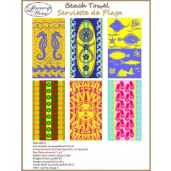 "Jacquard Beach Towel ~ 27"" x 34"""