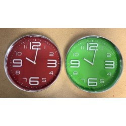 "Round Wall Clock - 11.75"" ~ 2 colors"