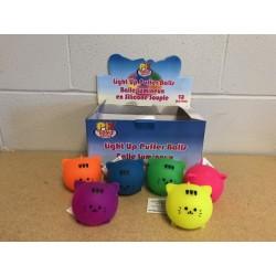 """Light-Up Cat Puffer Ball - 4"""" ~ 12 per display"""