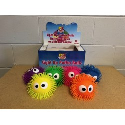"Light-Up Big Eye Puffer Ball - 6"" ~ 12 per display"