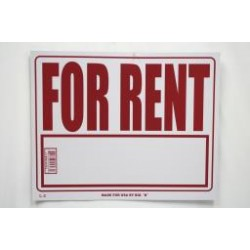 "PVC Sign - 16"" x 20"" ~ For Rent"