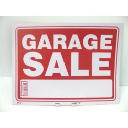 "PVC Sign - 12"" x 16"" ~ Garage Sale"