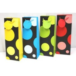 Bottle Gift Bags ~ Large Polka Dots