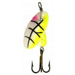 Panther Martin Lure - Size 4 ~ UV Chartruese / White