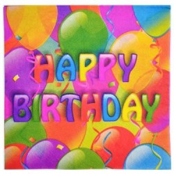 Paper Napkin w/Happy Birthday - 2 ply ~ 16 per pack