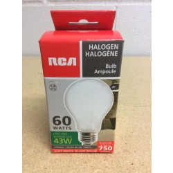 Halogen Lightbulbs - Soft White - 1 per pack ~ 60W