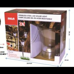 Stainless Steel LED Solar LED Lights ~ 2 per pack