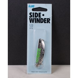 Sidewinder - 1/3oz ~ Nickel Chartreuse Stripe