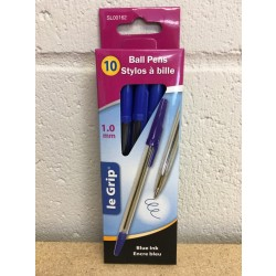 Ball Point Pens {1.0mm} - Blue Ink ~ 10 per box