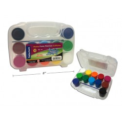 Selectum Poster Paints in Plastic Jars {20g} + Brush in Carrying Case