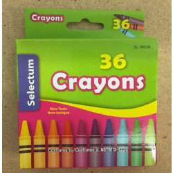 Selectum Crayons ~ 36 per pack