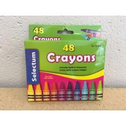 Selectum Crayons w/Built-In Sharpener ~ 48 per pack