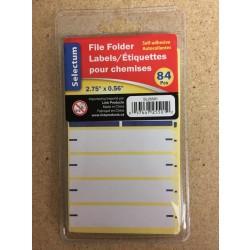 Selectum File Folder Labels ~ 84 pieces