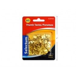 Selectum Thumbtacks - Brass Plated ~ 85 per pack