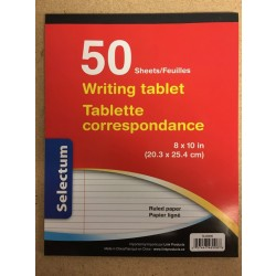 Selectum Writing Tablet - Liined ~ 50 sheets