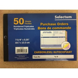 Selectum Tri Carbonless Purchae Order Book ~ 50 sheets