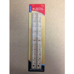 """Selectum Wooden Rulers - 30cm / 12"""" ~ 2 per pack"""