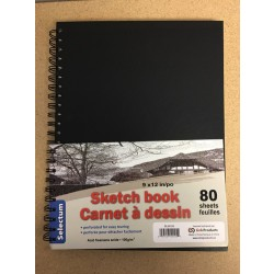 "Selectum Hard Cover Sketch Book - 9"" x 12"" ~ 80 sheets"