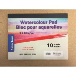 "Selectum Water Color Pad - 9"" x 12"" ~ 10 sheets"