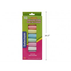 Selectum Jumbo Sidewalk Chalk ~ 10 pieces