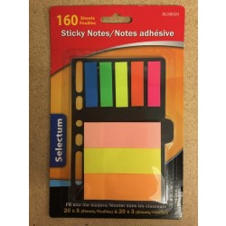 Selectum Sticky Notes ~ 2 Sizes ~ 160/sheets
