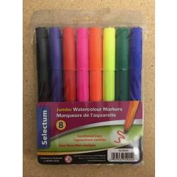 Selectum Jumbo Water Color Markers ~ 8 per pack