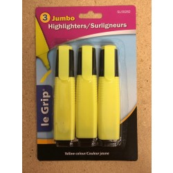 Selectum Jumbo Yellow Highlighters ~ 3 per pack