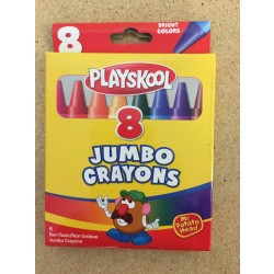 Playskool Jumbo Crayons ~ 8 in box