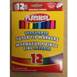 Playskool Super Tip Washable Markers ~ 12 per pack