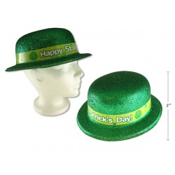 St. Patrick's Day Printed Gltter PVC Derby Hat