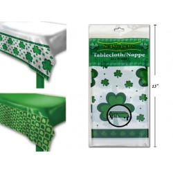 "St. Patrick's Day Printed Plastic Tablecover ~ 54"" x 108"""