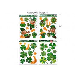 St. Patrick's Glitter Window Clings