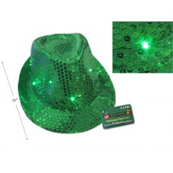 St. Patrick's Day Sequin Flashing Fedora Hat