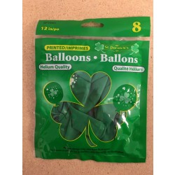 "St. Patrick's Day Printed Balloons - 12"" ~ 8 per pack"
