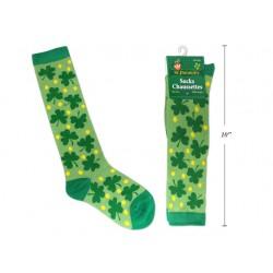 St. Patrick's Day Polyester Shamrock Socks