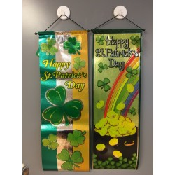 "St. Patrick's Day Foil Printed Non-Woven Hanging Banner ~ 30""L"