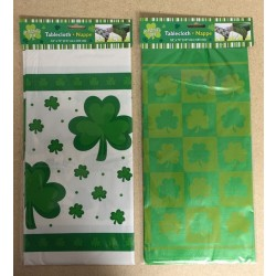 "St. Patrick's Plastic Tablecover ~ 54"" x 72"""