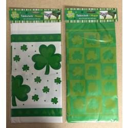 "St. Patrick's Plastic Tablecover ~ 54"" x 72"""