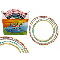Laser Ribbon Fun Hoop ~ 4 assorted sizes