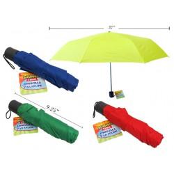 "21"" Solid Color Folding Umbrella w/Pouch"