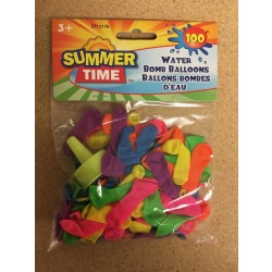 Water Bomb Neon Balloons w/Filler ~ 100 pieces