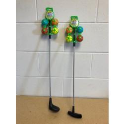 "Golf Club Set with Metal Shaft + 4 Balls ~ 24"""