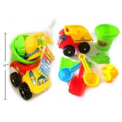 Beach Dump Truck with Bucket + Tools ~ 8 piece set