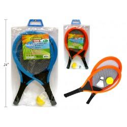"Mesh Trampoline Racquet Set with Foam Handles - 21.5"" ~ 4 piece set"