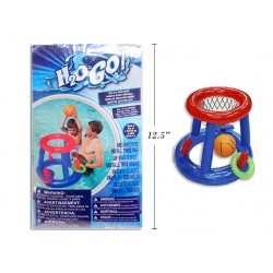 "24"" Inflatable Floating Basketball Net with Ball"