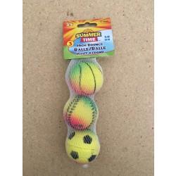 Rainbow Sports Hi Bounce Balls - 45mm ~ 3 per pack