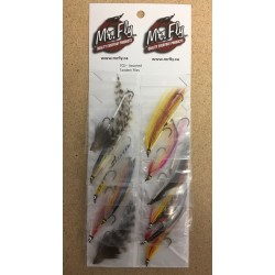 Assorted Tandem Trout Flies ~ 12 per card