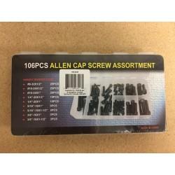 Allen Cap Screw Assortment ~ 106 pieces