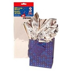 Tissue Paper - METALLIC SILVER ~ 3 per pack