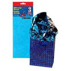 Tissue Paper - METALLIC BLUE ~ 3 per pack
